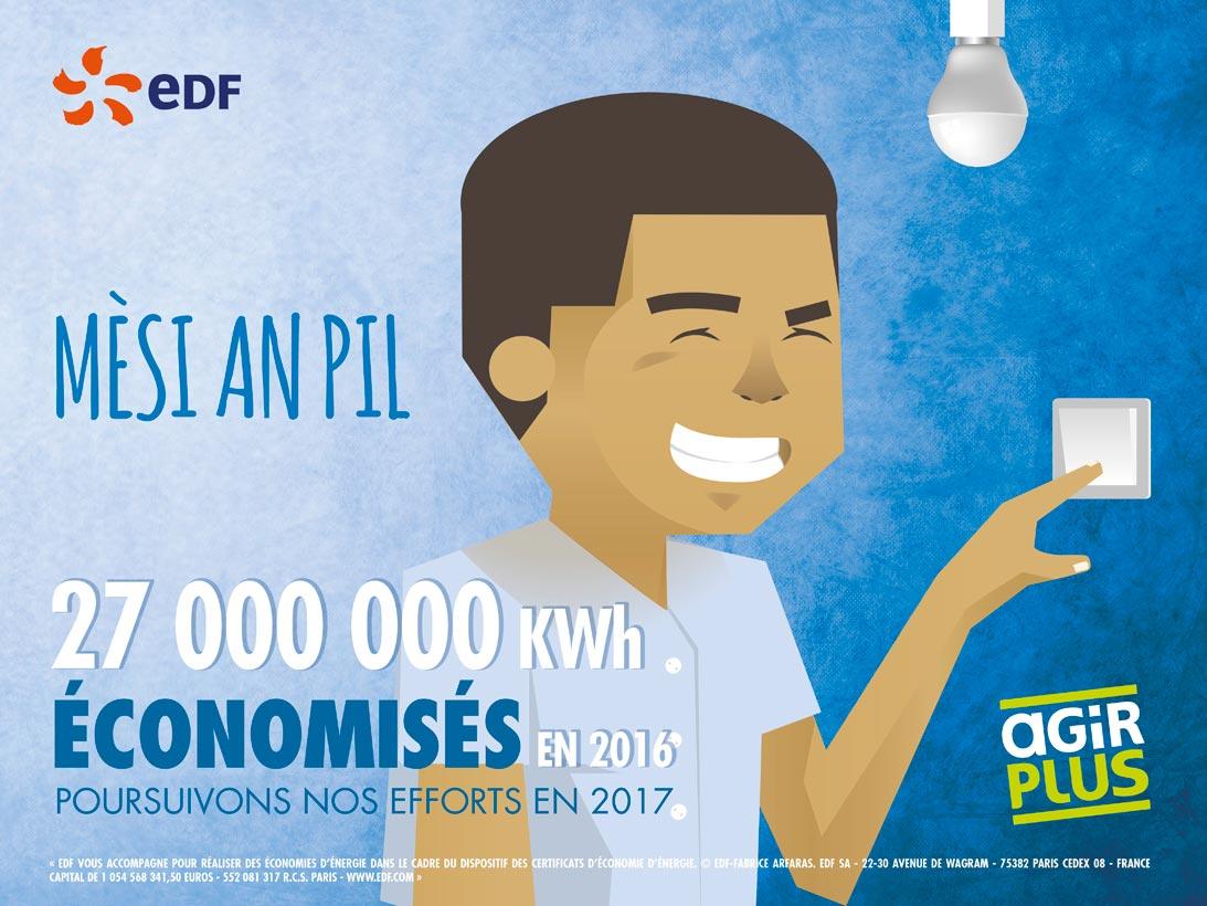 Publicité EDF Mèsi an pil