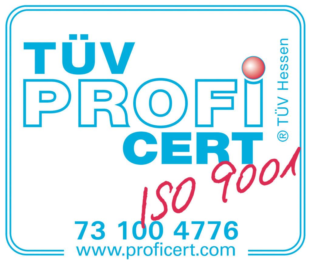 Logo TUV PROFI CERT