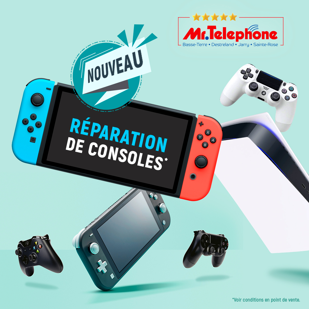 Publicité Mr Téléphone réparation consoles