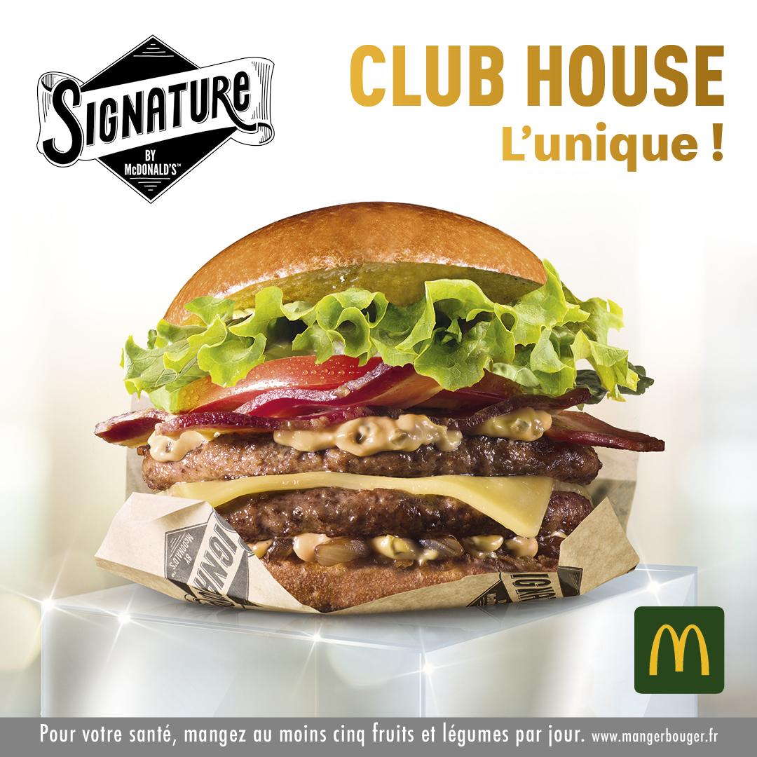 Publicité Mcdo Signature Club House
